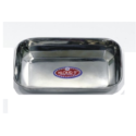 Silver Stainless Steel Rectangular Plate, Size: 17 Cm