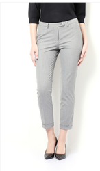 Stripe 33% Viscose and 5% Spandex Van Heusen Grey Trousers