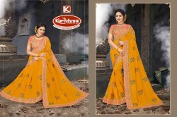 Vichitra Embroidery  & Diamond Work Saree - First Time 03