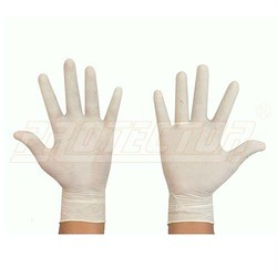 Latex Rubber Examination Hand Gloves (Disposable)