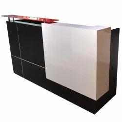 Rectangular Engineered Wood Reception Work Table