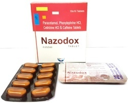 Paracetamol, Phenylephrine Hcl, Cetirizine Hcl & Caffeine