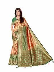 Ladies Fancy Jacquard Silk Saree