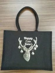 Jute Bag with Sequin Work