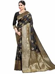Modish Art Silk Saree With Blouse By Parvati Fabric (21825)