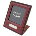 Engraved Leather Photo Frame