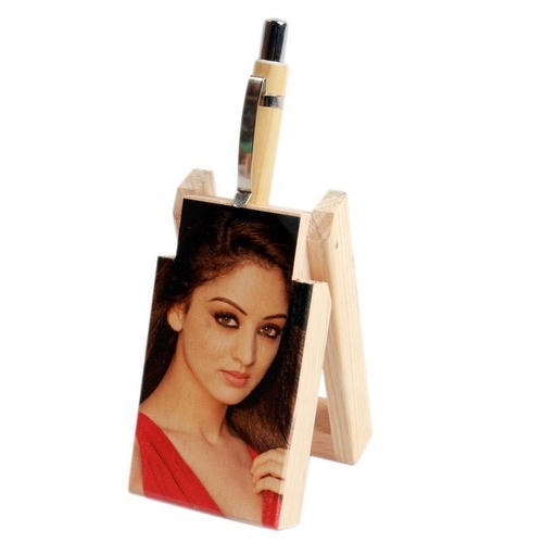 Angad Personalized Gift Shop Multicolor Fancy Wooden Pen Stand