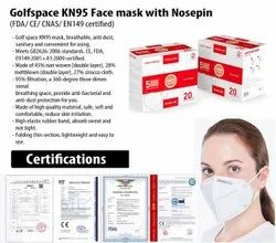 Golfspace KN95 Face Mask With Nosepin