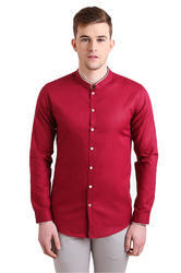 Alvin Kelly Solid Red Color Casual Men's Shirt