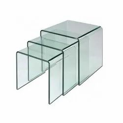 Curved Plain Glass, For Stair Railing,Balcony Railing, Thickness: 6 mm