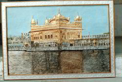 Metal Emboss Golden Temple