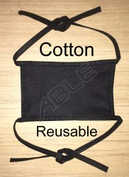 Black Cotton Reusable Face Mask
