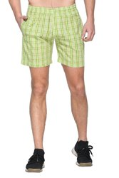 Mens Checked Cotton Shorts