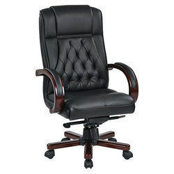 Black High Back Revolving Boss Chair