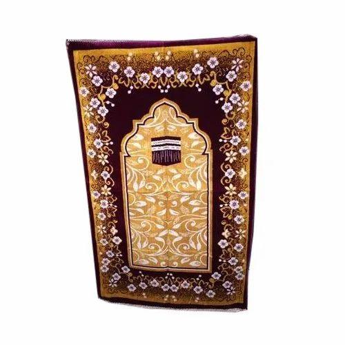 Multicolor Designer Turkey Prayer Mat, Size: 6x9 feet, Packaging Type: Packet