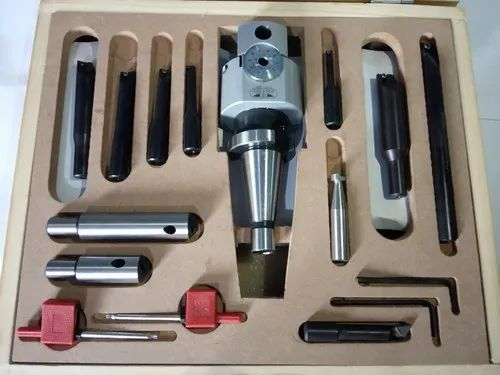 Dia 62 Mm Micro Boring Head Set With WCGT/TPGX Indexable Tools