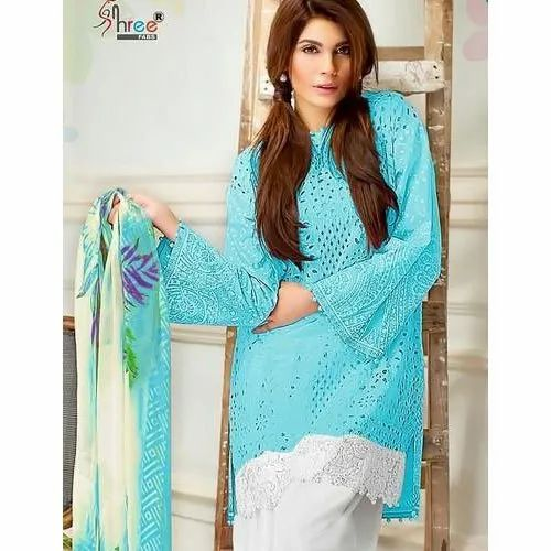 Casual Straight Ladies Cotton Salwar Suit