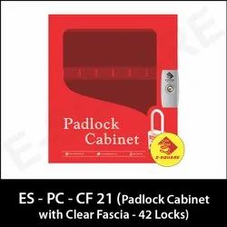 Lockout Padlock Cabinet with Clear Fascia - 42 Locks