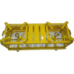 Yellow Powder Coated 2 Burner Iron Gas Stove, for Restaurant