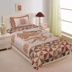 Rajasthani Dandiya Print Single Cotton Bedsheet