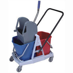 Double Mop Wringer Trolley 46L