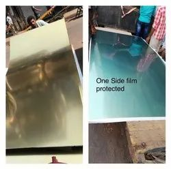 Imported Glossy Brass Sheets, Rectangular, 1.20mm To 5mm