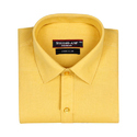 Full Sleeves Yellow Color Plain Shirt