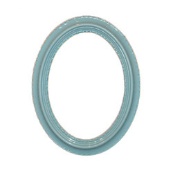 Blue Oval Glass Mirror Frame