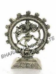 White Metal Natraj Statue
