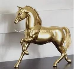 Beautifully Sculptured Brass Horse Statue