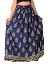 Rajasthani  Printed Rayon Long Skirts
