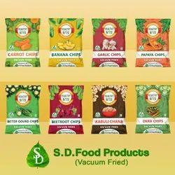 Vacuum Fried Fruit, Vegetable & Pulses Chips, Packaging Type: Nitrogen Packing