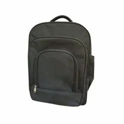 Plain Polyester Black School Bag