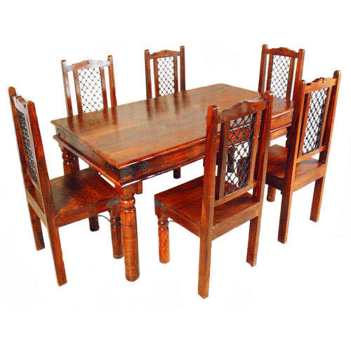 6 Chair Wooden Dining Table at Rs 12000  set  61030effd