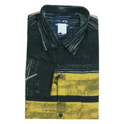 Yellow Printed Shirts for Men's