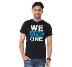 Mens Round Neck T Shirt We Are One