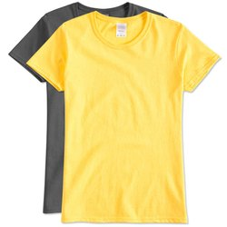 Plain Half Sleeve Round Neck Cotton T Shirt