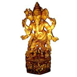 Resin Culture Marble Standing Kan Ganesha Statue