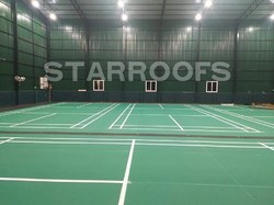 Indoor Badminton Court Roofing Work
