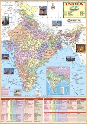 Wall Maps Political - India Political Of Map Manufacturer from New  Quot W World Map Laminated on