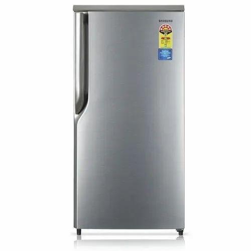 Grey Stainless Steel Samsung Direct Cool Single Door Refrigerators