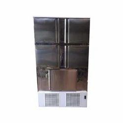 Silver 5 Door Vertical Refrigerator