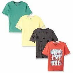 Q Baby Cotton Kids V Neck T Shirt