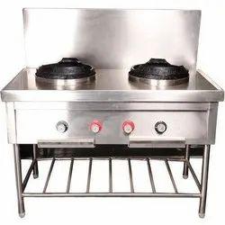 2 Burner Chineege Gas Range Cum Under Counter Refrigerator