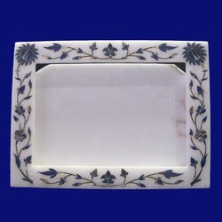 White Inlaid Stone Handmade Photo Frame