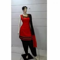 Cotton A-Line Ladies Sleeveless Suit Salwar