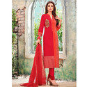 Red Georgette Ladies Suit