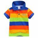 Multi Stylish Half Sleeves Polo T-shirt
