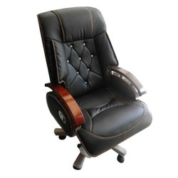 Leather High Back Conference Chair, Black