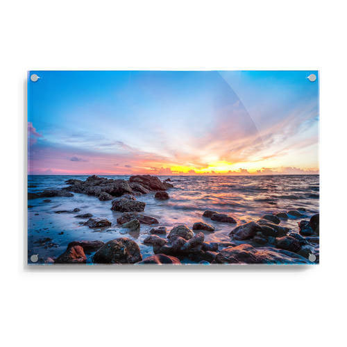 Sunrise Glass Painting, Size: 10x4 And 12x4 Feet